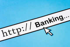 Online Banking. Computer Screen, concept of Online Banking royalty free stock images