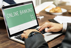 Online Banking Accounting Financial Concept Royalty Free Stock Photo