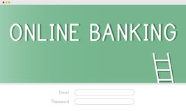 Online Banking Accounting Financial Concept. Online Banking Login Financial Accounting Royalty Free Stock Images