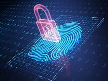 Free Online Banking And Fingerprint Authentication Technology Stock Photo - 188969170