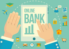 Online banking application Stock Images