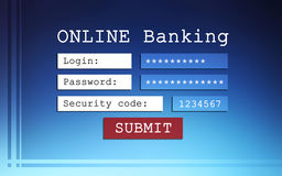 Online banking background Royalty Free Stock Image