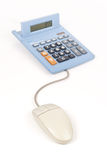 Online Banking and Calculations stock image