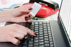 Online banking concept. Royalty Free Stock Photos