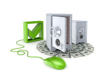 Online banking concept. Royalty Free Stock Image
