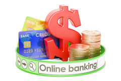 Online Banking concept, 3D rendering Stock Photo