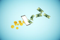 Online banking concept Stock Photography