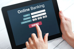 Online banking concept Stock Photos