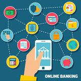 Online banking concept Royalty Free Stock Photo