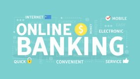 Online banking concept. Online banking concept illustration. Idea of fast payment through internet Stock Photography