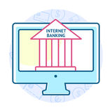 Online banking concept Royalty Free Stock Image