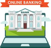 Online banking concept Royalty Free Stock Images