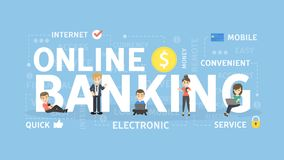 Online banking concept. Online banking concept illustration. Idea of fast payment through internet Royalty Free Stock Photos