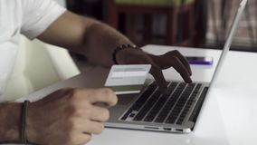 Online banking with credit card Royalty Free Stock Photography