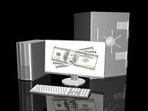 Online Banking. 3D rendered Illustration. Online Banking Royalty Free Stock Photography