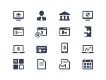Online Banking Icons Royalty Free Stock Images