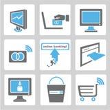 Online banking icons stock illustration