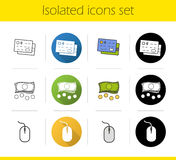 Online banking icons set Royalty Free Stock Image