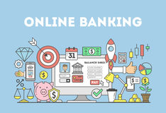 Online banking illustration. Stock Photography