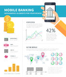 Online banking infographic Royalty Free Stock Photo