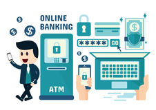 Online Banking Infographics Royalty Free Stock Images