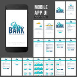 Online Banking Mobile Apps UI design. Royalty Free Stock Photography
