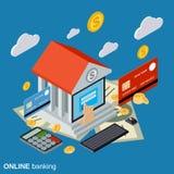 Online banking, money transfer, financial transaction vector concept Stock Photography