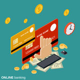 Online banking, money transfer, financial transaction vector concept Stock Photography