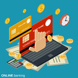 Online banking, money transfer, financial transaction vector concept Royalty Free Stock Image
