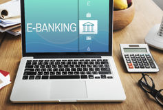 Online Banking Payment Finance Concept Stock Photography