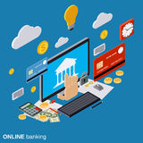 Online banking, payment, money transfer vector concept Stock Photo