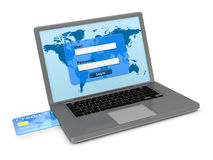 Online banking services Stock Photography