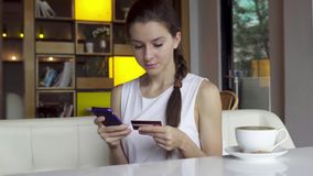 Online banking with smart phone Stock Photos