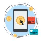 Online banking vector concept Stock Photos
