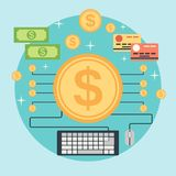 Online banking vector concept Stock Photography