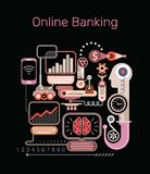Online Banking vector illustration Royalty Free Stock Images
