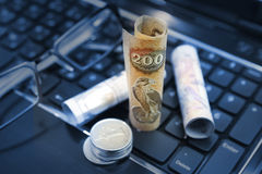 Online-Bankings-Konzept Lizenzfreies Stockfoto