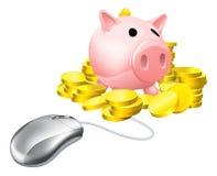 Online-bankrörelsebegrepp Arkivfoto