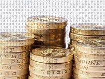 Online-bankrörelsen Arkivfoto