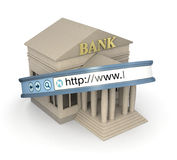 Online-bankrörelsen Arkivbild