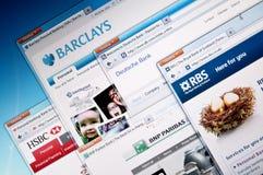 Online Banks Web Sites Stock Photo