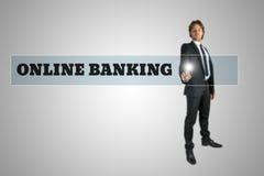 Online bankwezen royalty-vrije stock afbeeldingen
