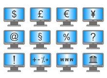 Online bankwezen en het online winkelen Stock Foto