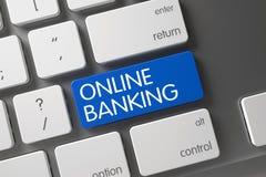 Online Bankwezensleutel 3d Stock Afbeelding