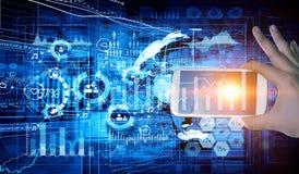 Online bankwezentoepassing Gemengde media Royalty-vrije Stock Afbeelding