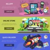 Online Banner Horizontal Stock Photography