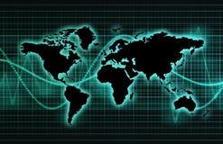 Online BedrijfsAchtergrond vector illustratie