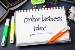 Online bedrijfsidee Royalty-vrije Stock Foto's