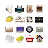 Online bedrijfspictogramreeks Stock Fotografie