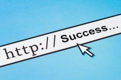Online BedrijfsSucces royalty-vrije stock afbeeldingen